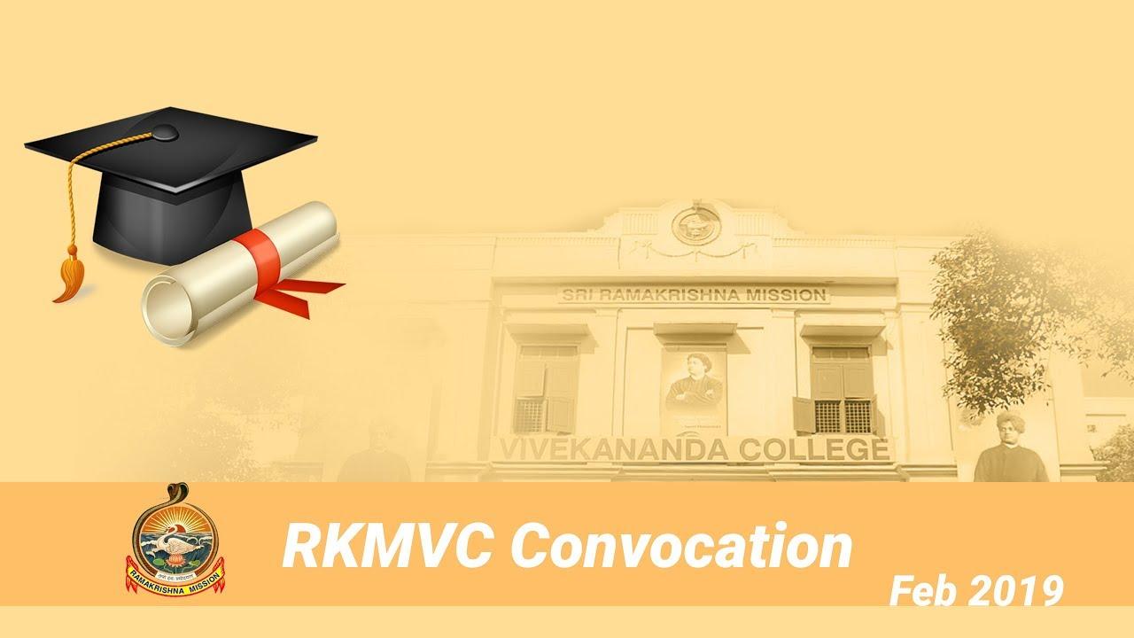 RKMVC Convocation: February 2019: I