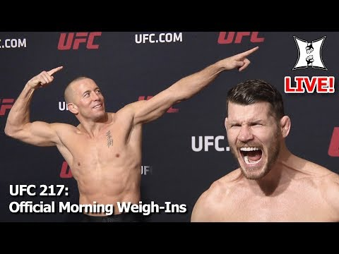 UFC 217: Bisping vs St-Pierre Official Morning Weigh-ins (LIVE! / Unedited)