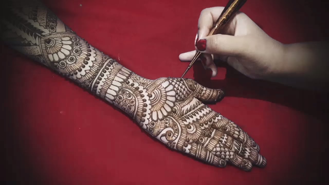 Traditional Bridal Cool Henna Or Mehndi Design For Hand Step By