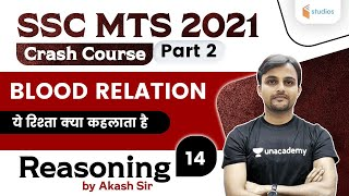 10:30 AM - SSC MTS 2021   Reasoning By Akash Chaturvedi   Blood Relation (Part-2)