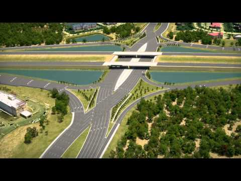 I-75/University Parkway Diverging Diamond Interchange Design - YouTube