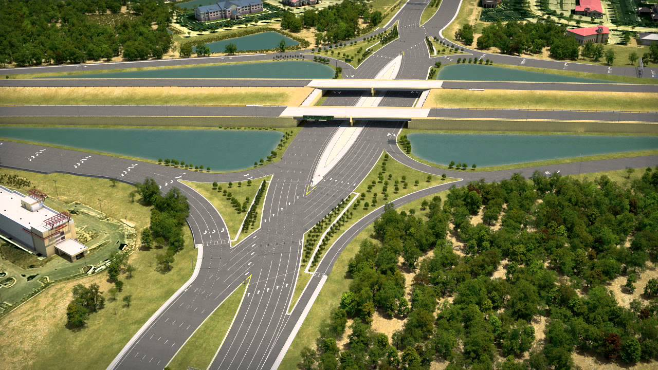 Картинки по запросу I-75/University Parkway Diverging Diamond Interchange Design