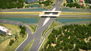 I-75/University Parkway Diverging Diamond Interchange Design - YouTube