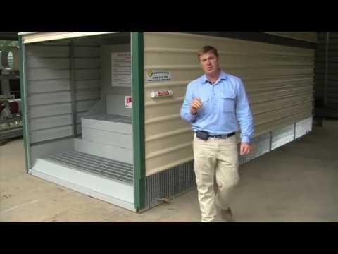 Waste Oil Storage Shed