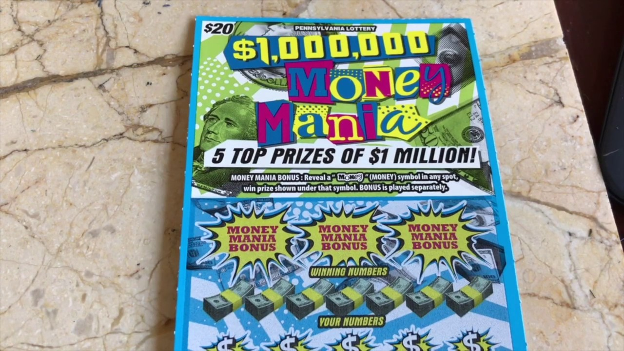 $20 Tuesday - $1,000,000 MONEY MANIA - PA Lottery Scratch Off Ticket