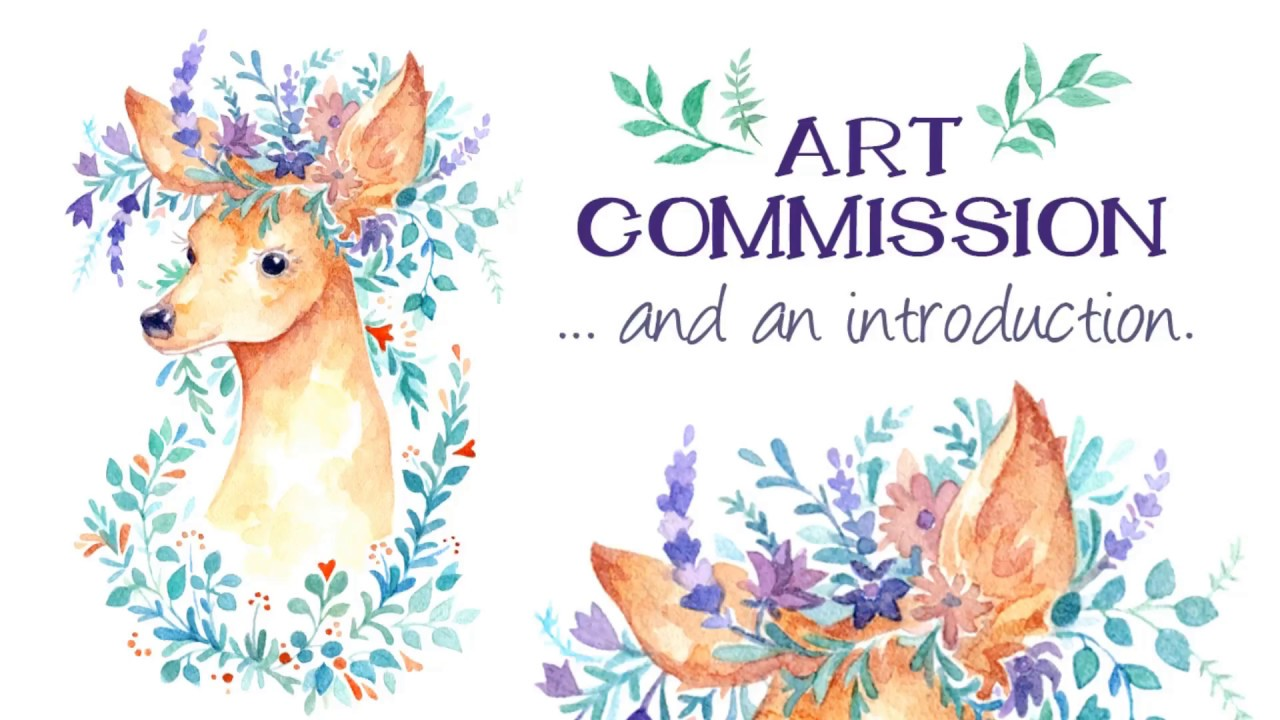 Flower Crown Illustration Commission Art Artist Introduction