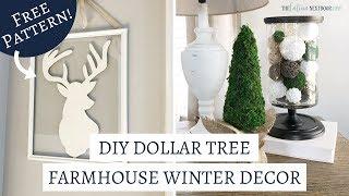 DIY Dollar Tree Farmhouse Winter Decor