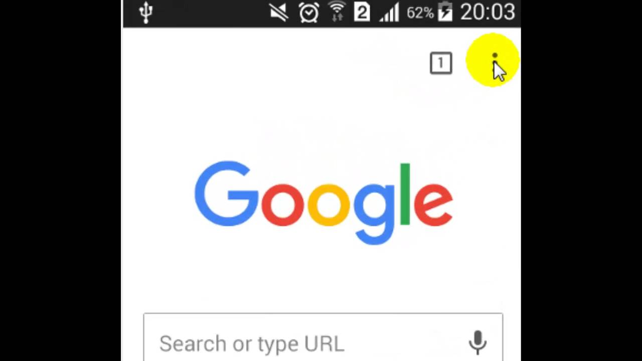 How to change home page in chrome android app - YouTube