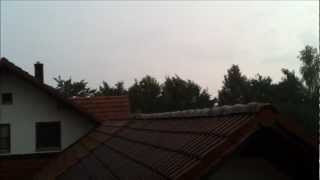 Unwetter am 2. Juli 2012 in Dingolfing mit Sirenenalarm