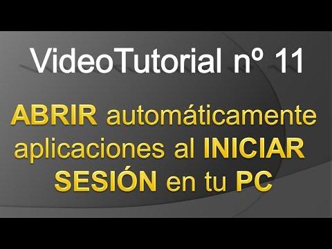 TPI - Videotutorial nº 11 - Como abrir aplicaciones automaticamente al iniciar sesion en W7