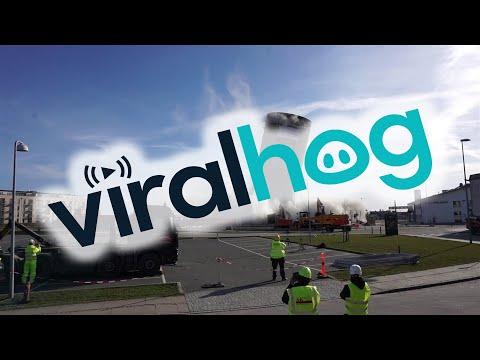 Silo Demolition Fail  || ViralHog