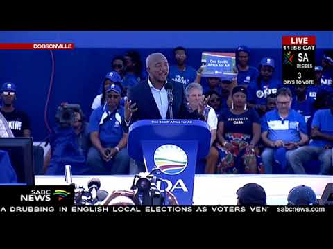 Maimane keynote address to woo voters at Dobsonville election rally