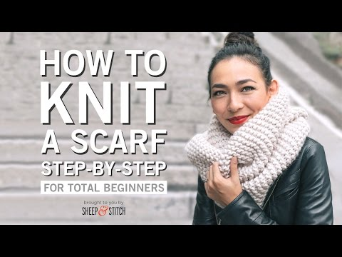 How to Knit a Scarf for Beginners Step By Step