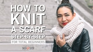 How to Knit a Scąrf for Beginners Step By Step
