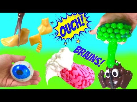 Cutting Open Squishy Toys! Eyeball, Poop, Brain and My Little Pony | Fizzy Toy Show