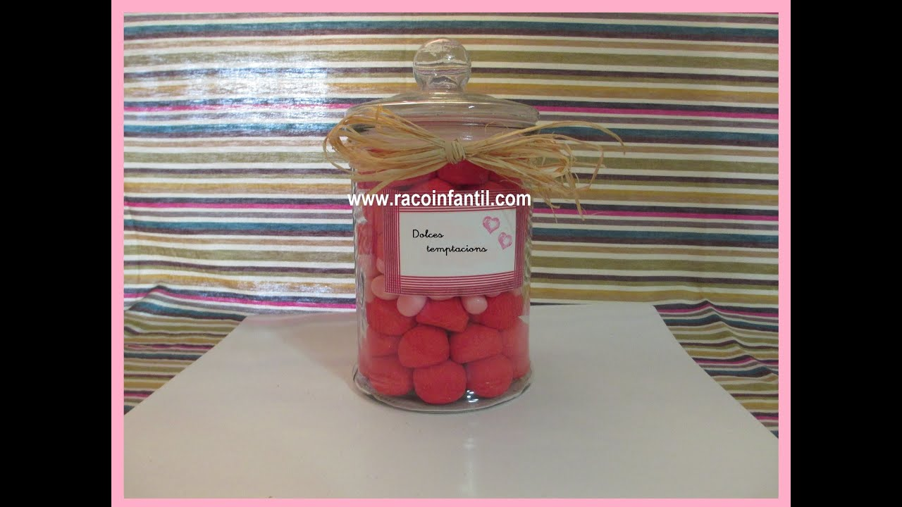 Ideas decorar fiestas botes de chuches i youtube - Adornos con chuches ...