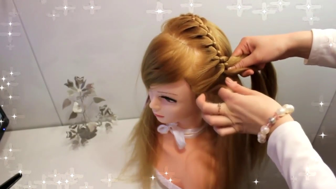 Прическа на длинные волосы – красивые прически на каждый день (детские причёски на выпускной вечер)