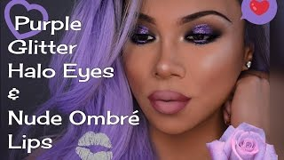 Gorgeous Gold And Purple Eyes With Nude Lips Makeup Tutorial