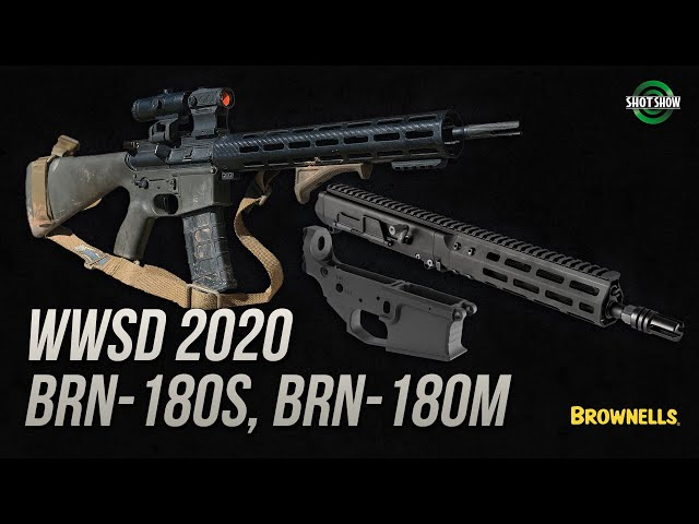 Brownells WWSD 2020, BRN-180S Upper, BRN-180M Lower - SHOT Show 2020