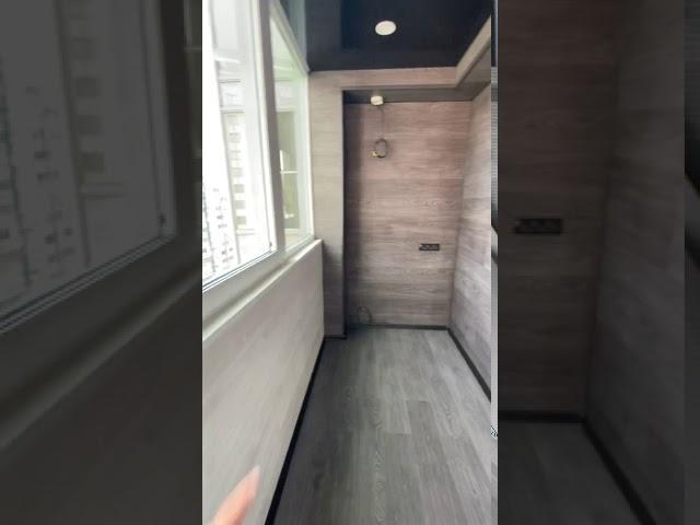 Смотреть видео Балкон под ключ(подготовка под кухню)