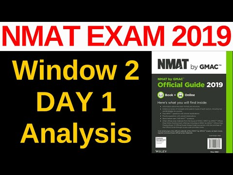 NMAT Exam 2019 Analysis [Window 2 Day 1] Must Watch Before Exam