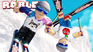 Roblox Adventure - EPIC SNOWBOARDING STUNTS IN ROBLOX! (Ski Resort)