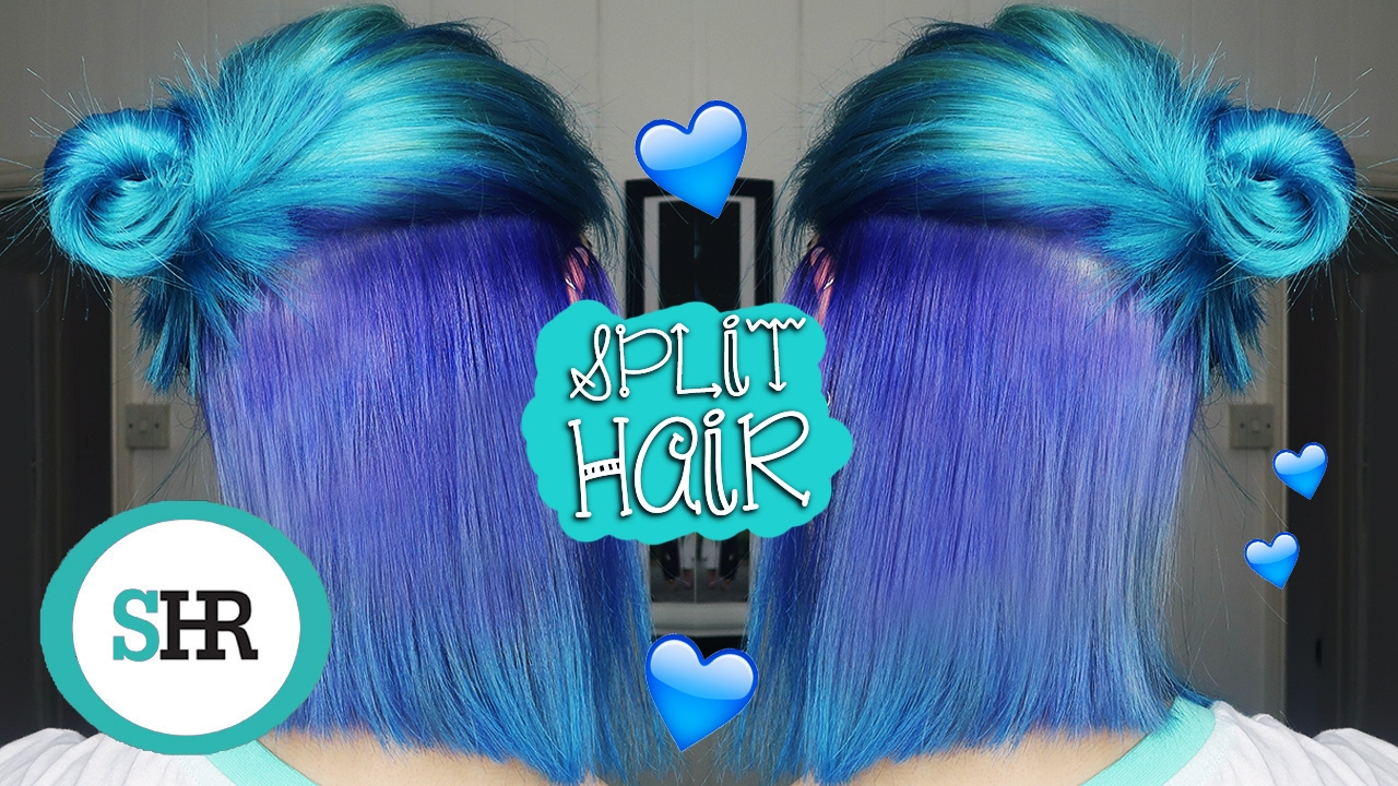 How To Dye Your Hair Half And Half Ad Youtube