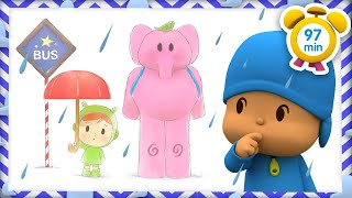 ☔️ POCOYO in ENGLISH - Rain Rain Go away [ 97 min ] | Full Episodes | VIDEOS and CARTOONS for KIDS
