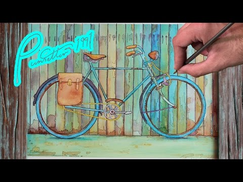 Watercolor Painting of a Vintage Bicycle - Time Lapse - Happy Mothers Day!
