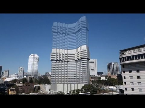 Tokyo hotel shrinks in new-style urban demolition