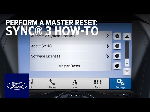 Ford Sync Reset >> Sync 3 How To Perform A Master Reset Ford How To Ford
