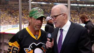 hbk on hand to watch penguins and lightning