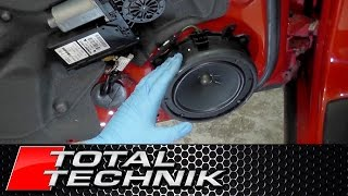 How to Remove Door Speaker (Including BOSE) - Audi A4 S4 RS4 - B6 B7 - TOTAL TECHNIK