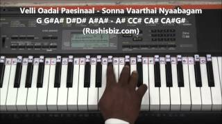 Kaadhal Rojave Piano Tutorials - Roja Movie (Tamil)