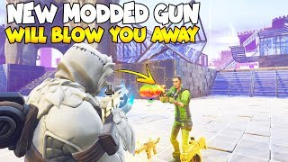 CE NOUVEAU MODDED GUN WILL BLOW YOU AWAY 😱 (Scammer Get Scammed) Fortnite Save The World