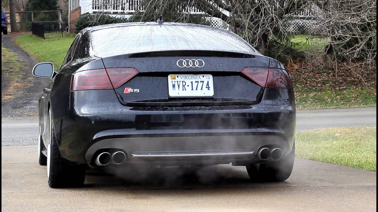 2009 Audi S5 Remus Exhaust Start and Low Rev 4.2L V8 Sound