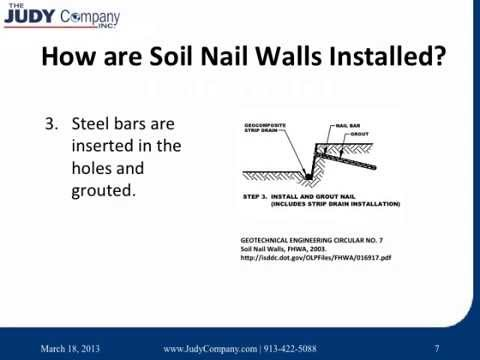 Perfect Soil Nail Wall Installation
