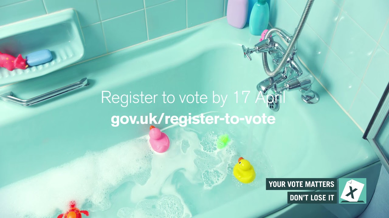 Got 5 while your run a bath? Register to vote in the 2018 local ...