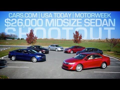 Cars.com/USA Today/MotorWeek $26,000 Midsize Sedan Shootout