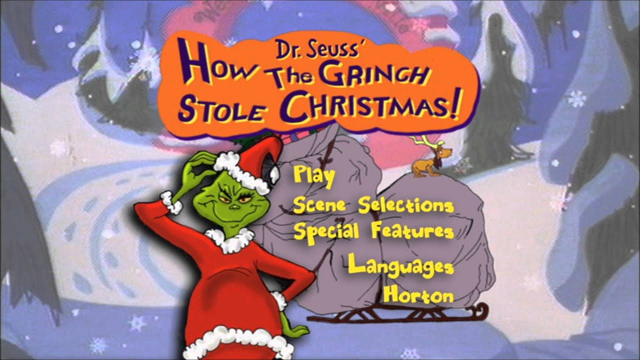 how the grinch stole christmashorton hears a who uk dvd menus youtube - How The Grinch Stole Christmas Youtube