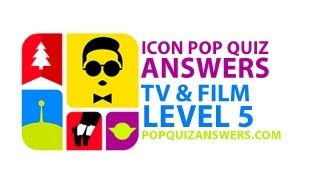 Icon Pop Quiz Answers (TV & Film) Level 5 for iPhone, iPad, Android