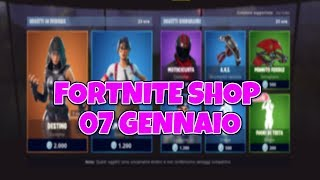 TODAY'S FORTNITE SHOP 7 JENNAIO: NEW EXALOTING AND TESTA