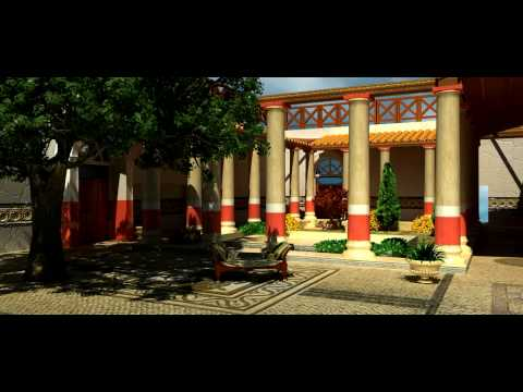Virtual Roman House Domitia Restitution 3D