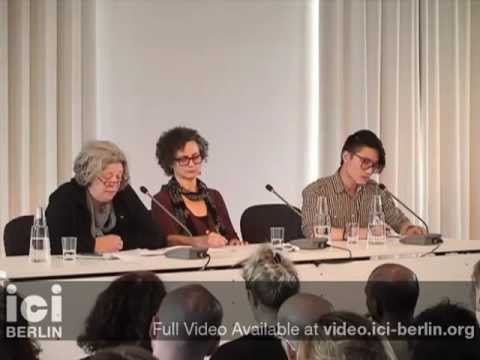 Discussion: Forms of Attachment. ICI Berlin - 2012