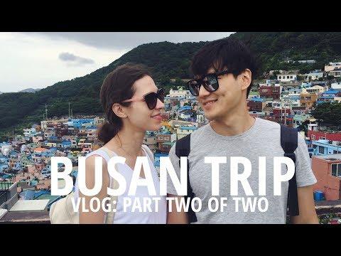 VLOG: Train to BUSAN  🌊 Pt. 2 (자막)국제커플 부산 여행 파트 2