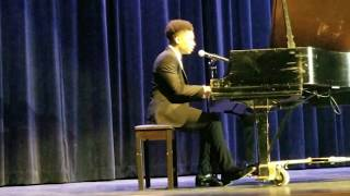 "16yr old-Caleb Carroll singing Cover of ""Life is Worth Living"" by Justin Bieber for MLK Program"