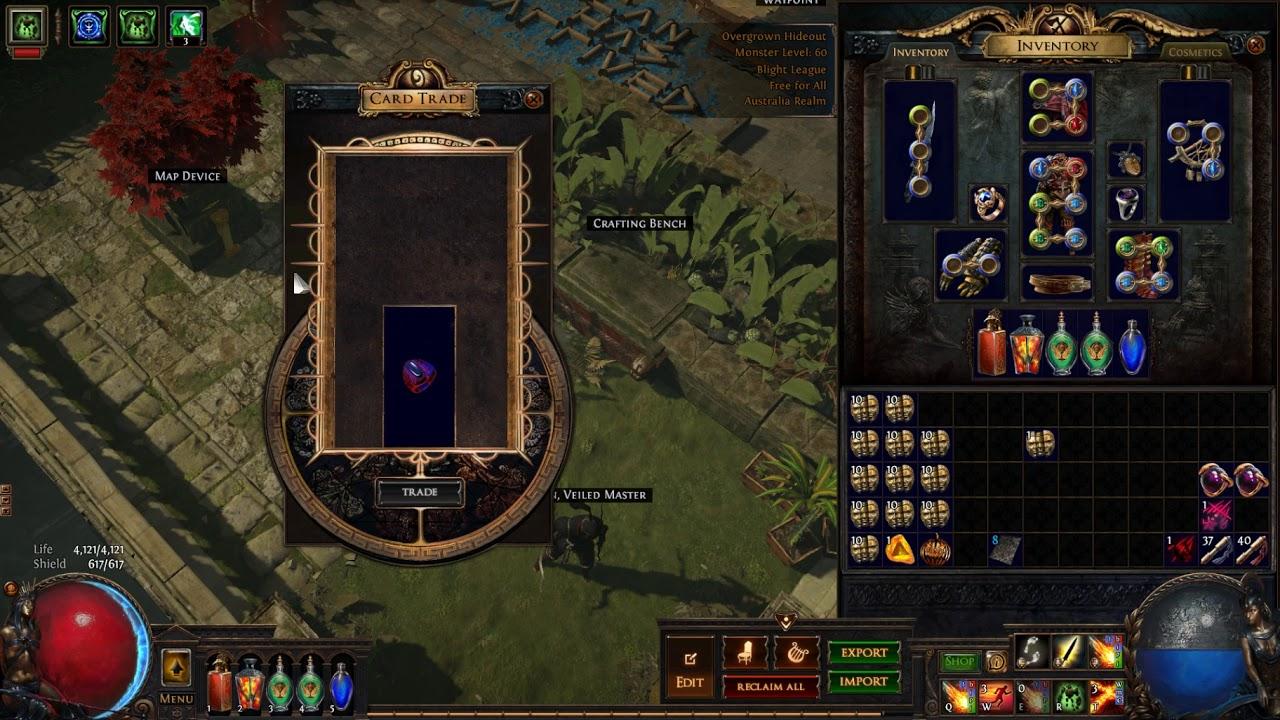 Path Of Exile Turning In Divination Cards Precursor S Emblem
