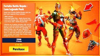 "VOICI the EXCLUSIVE PACK ""LAVA LEGENDS"" on Fortnite!"