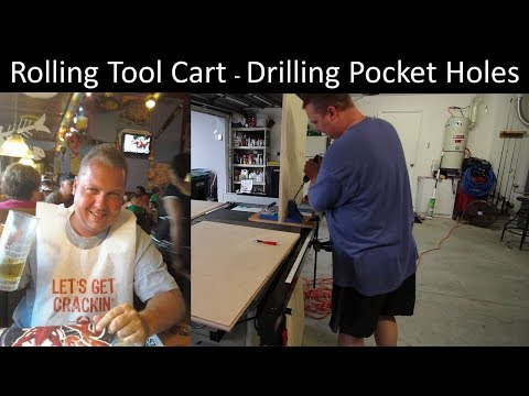 Mobile benchtop tool cart - drilling pocket holes
