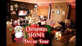 CHRISTMAS HOME DECOR TOUR! (2019) NIGHTTIME COZY & RELAXING // VLOG STYLE